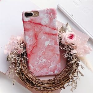 NEW iPhone X/7/8/7+/8+ Marble Case